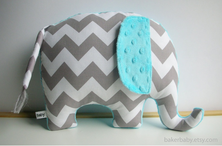 gray chevron nursery | ... Pillow, Modern Nursery Decor, turquoise and gray, chevron elephant