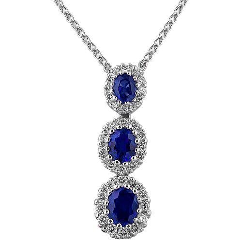 Spark Sapphire and Diamond Pendant Creations Fine Jewelers www.creationsfinejewelers.com 707-252-8131