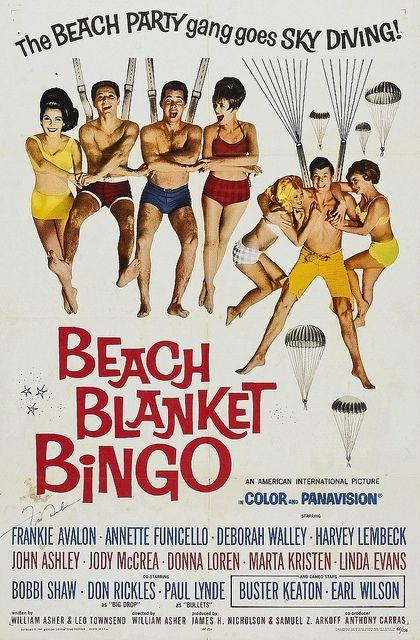 1965 Beach Blanket Bingo Annette Funicello and Frankie Avalon vintage 1960s movie poster by Christian Montone, via Flickr