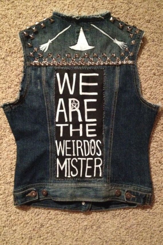 Hey, I found this really awesome Etsy listing at https://www.etsy.com/listing/201297084/weirdos-punk-vest