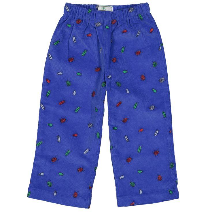 Bug Embroidered Slim Myles Pants