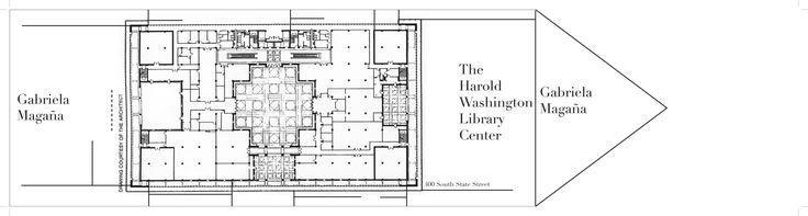 Hamond, Beeby and Babka (HBRA Architects)   Biblioteca Harold Washington   Chicago, Estados Unidos   1987-1991  