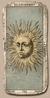 Tarot Card Eclaircissement - Vintage Tarot Card