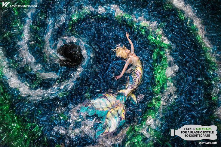 Suzy Johnston + Associates | Benjamin Von Wong - #MermaidsHatePlastic | Conservation project to bring awareness to plastic pollution