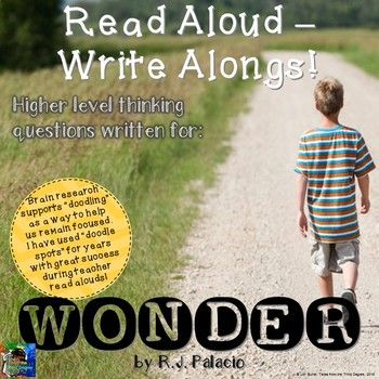 This is a new series I've created called READ ALOUD-WRITE ALONGS! I have written interactive, higher level thinking questions aligned with the common core to go with each chapter of popular classroom read alouds. These tri-folds will help to keep your