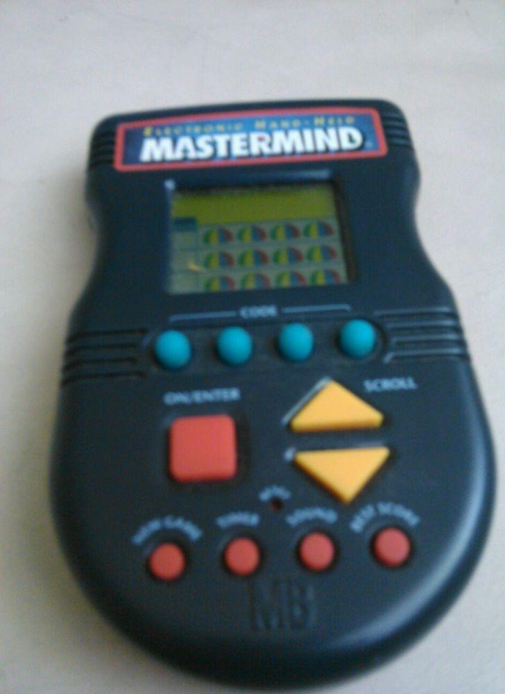 Mastermind Master Mind 1997 Electronic Game Handheld Hand