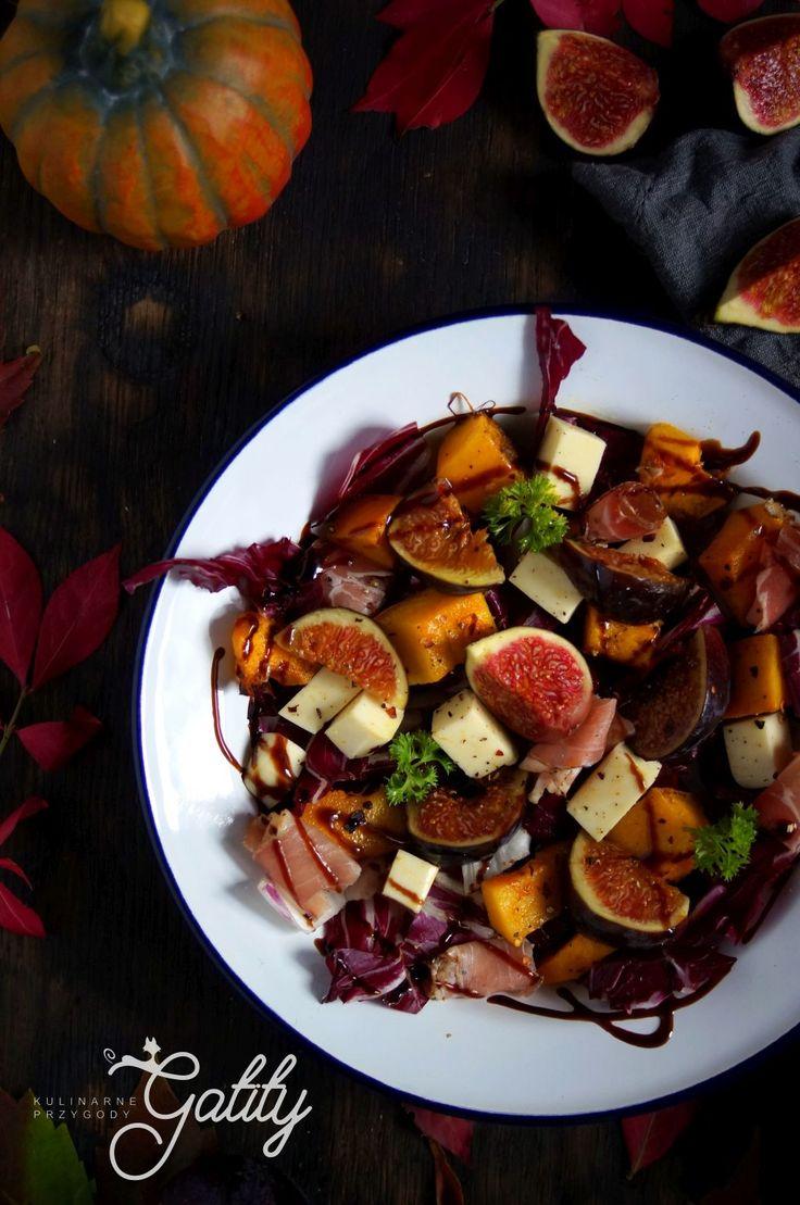 Kulinarne przygody Gatity - przepisy pełne smaku: Sałatka z dynią i figami