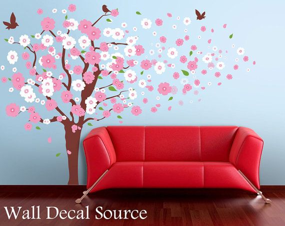 Blossom Tree Extra Large Wall Decal Japanese Cherry Blossom: 17 Best Images About Wall Decals On Pinterest