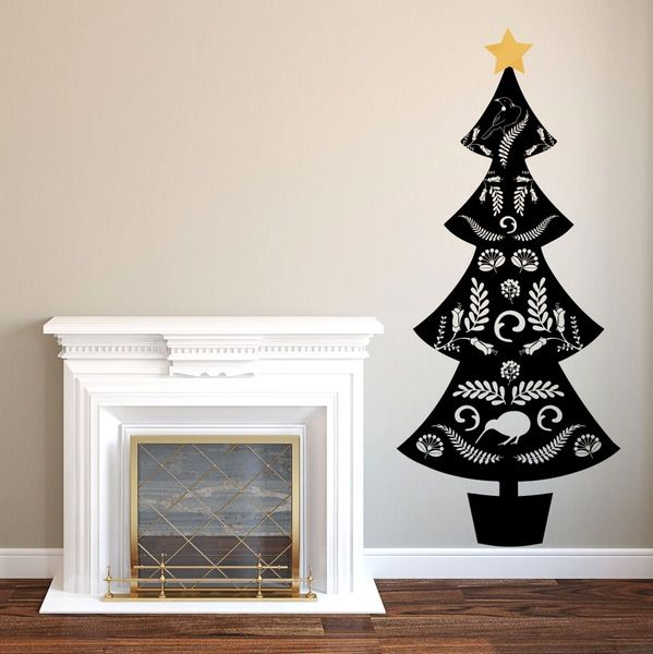Image of Kiwiana Christmas Tree Wall Decal