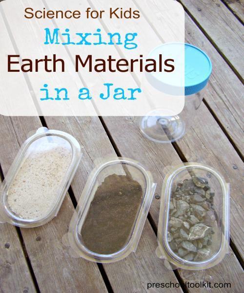 Science Activity - mixing earth materials - Preschool Toolkit