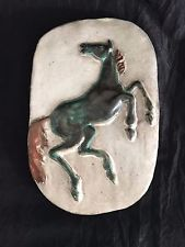 Grotenburg - Keramik - Wandplatte - steigendes Pferd - 1950/60