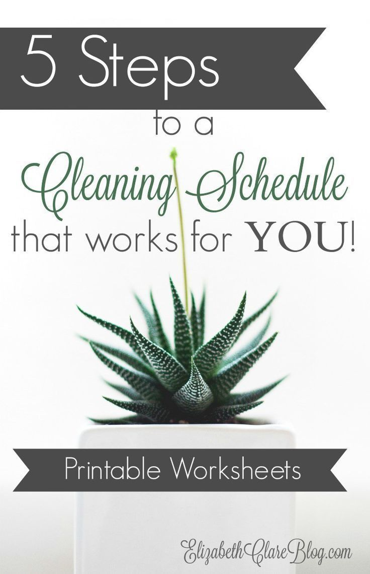 Make your own cleaning schedule, task list, and to-do list that works for you, your family, and your home. SO easy, great STEP-by-STEP instructions and FREE printable worksheets! Awesome and simple! www.elizabethclareblog.com/