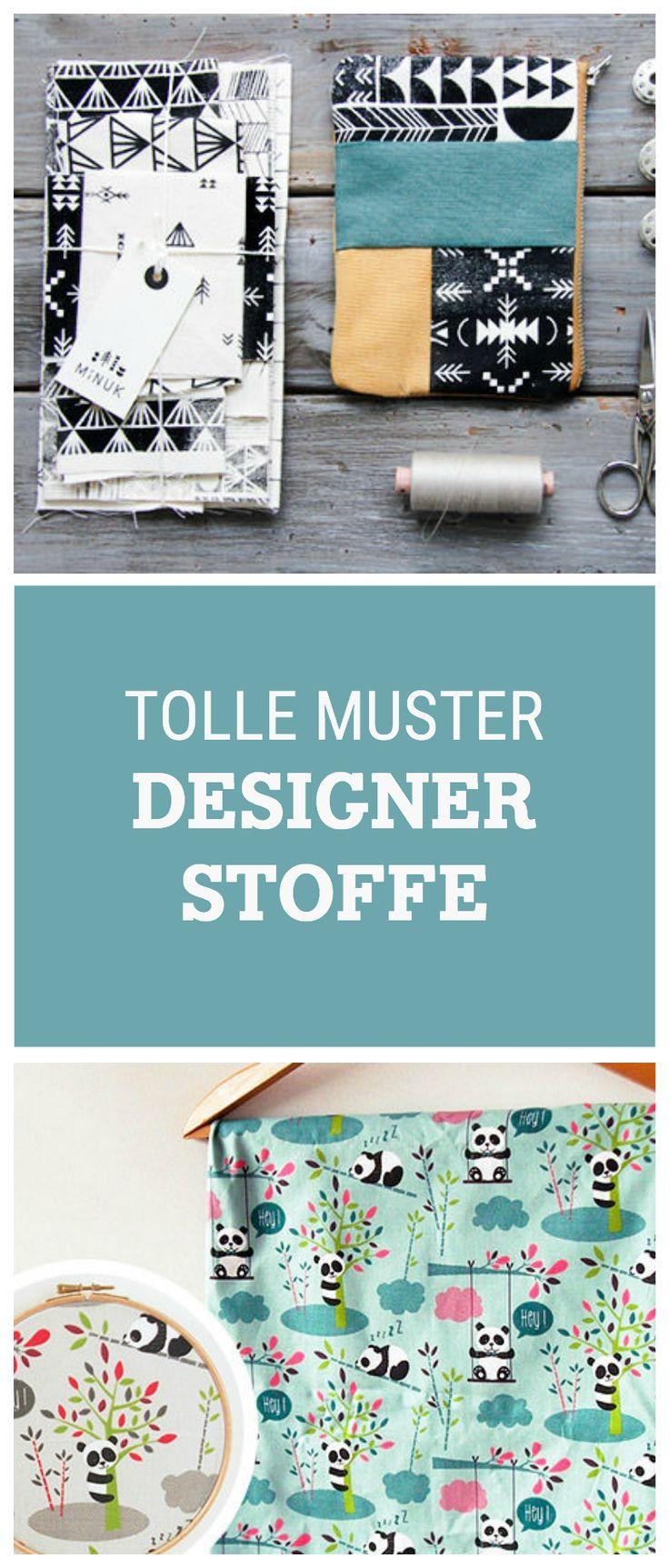 Entdecke tolle Stoffe mit Mustern für Deine nächsten Nähprojekte, gemusterte Stoffe / fabrics with different colorful patterns and prints via DaWanda.com