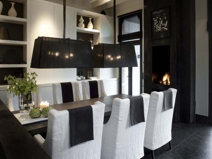 91 Best Spaces  Dining Room Images On Pinterest  Dining Room Fair Black And White Dining Room Design Decoration