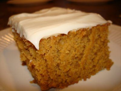 AMAZING! - Pumpkin Bars with Cream Cheese Frosting - delicious!