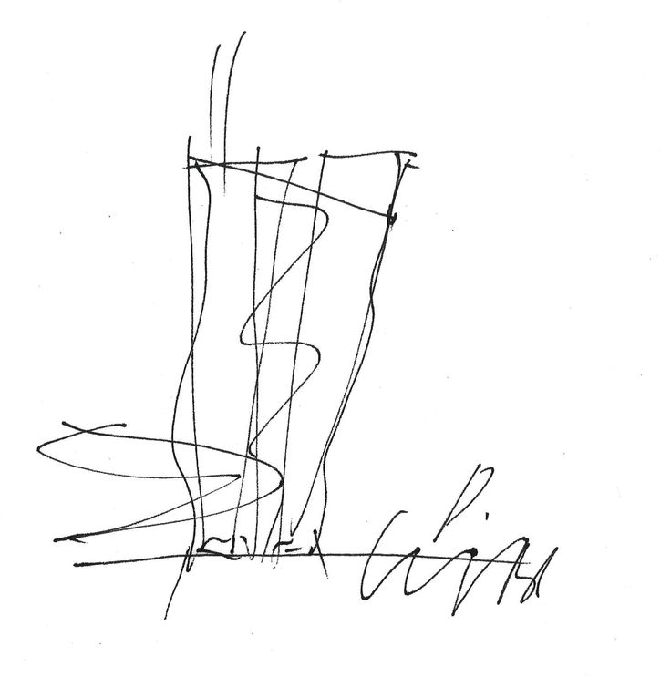 17 Napkin Sketches by Famous Architects,Wolf Prix. Image Courtesy of NewSchool…