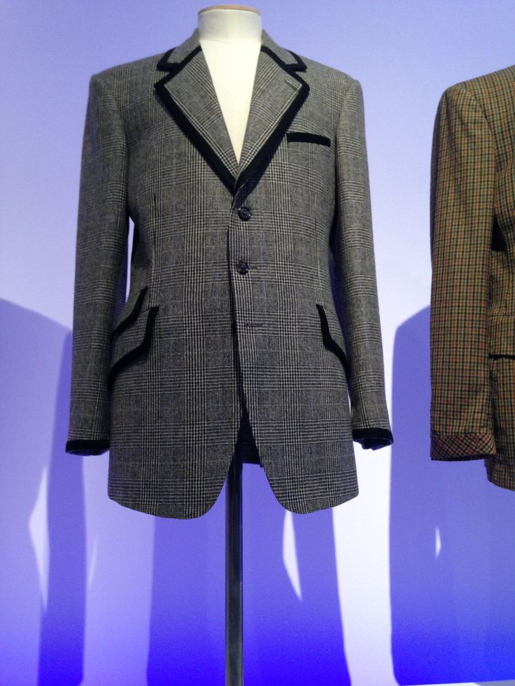 Men's Wool Prince Of Wales Check Jacket With Velvet Band A/W 2008