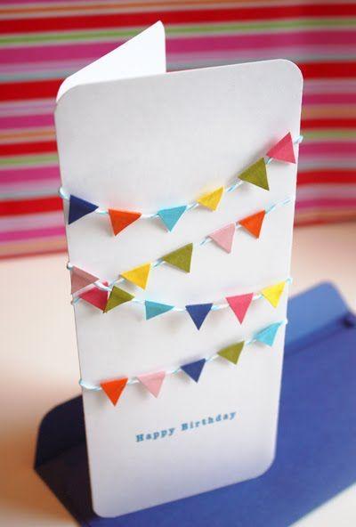 Cute!! Mini bunting birthday card.