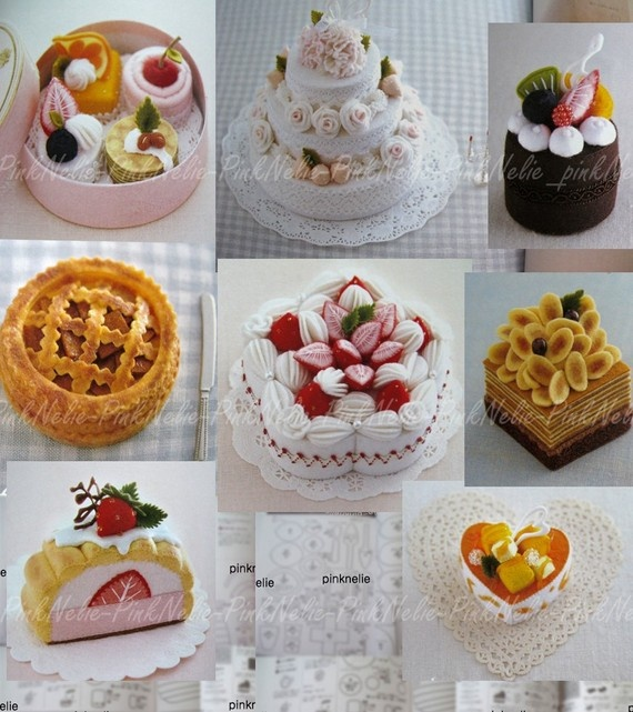 Japanese felt craft pastries, omg