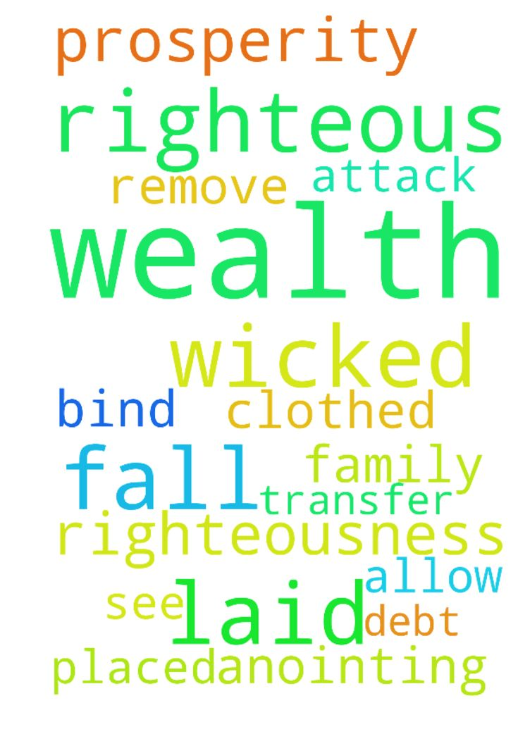 The wealth of the wicked is laid up for the righteous. - The wealth of the wicked is laid up for the righteous. I am clothed in the righteousness of the Lord Jesus Christ. Lord Jesus I bind every attack upon me To remove every debt placed over me and my family Prosperity anointing fall where I can see Allow your wealth transfer to fall on me  Posted at: https://prayerrequest.com/t/Iht #pray #prayer #request #prayerrequest