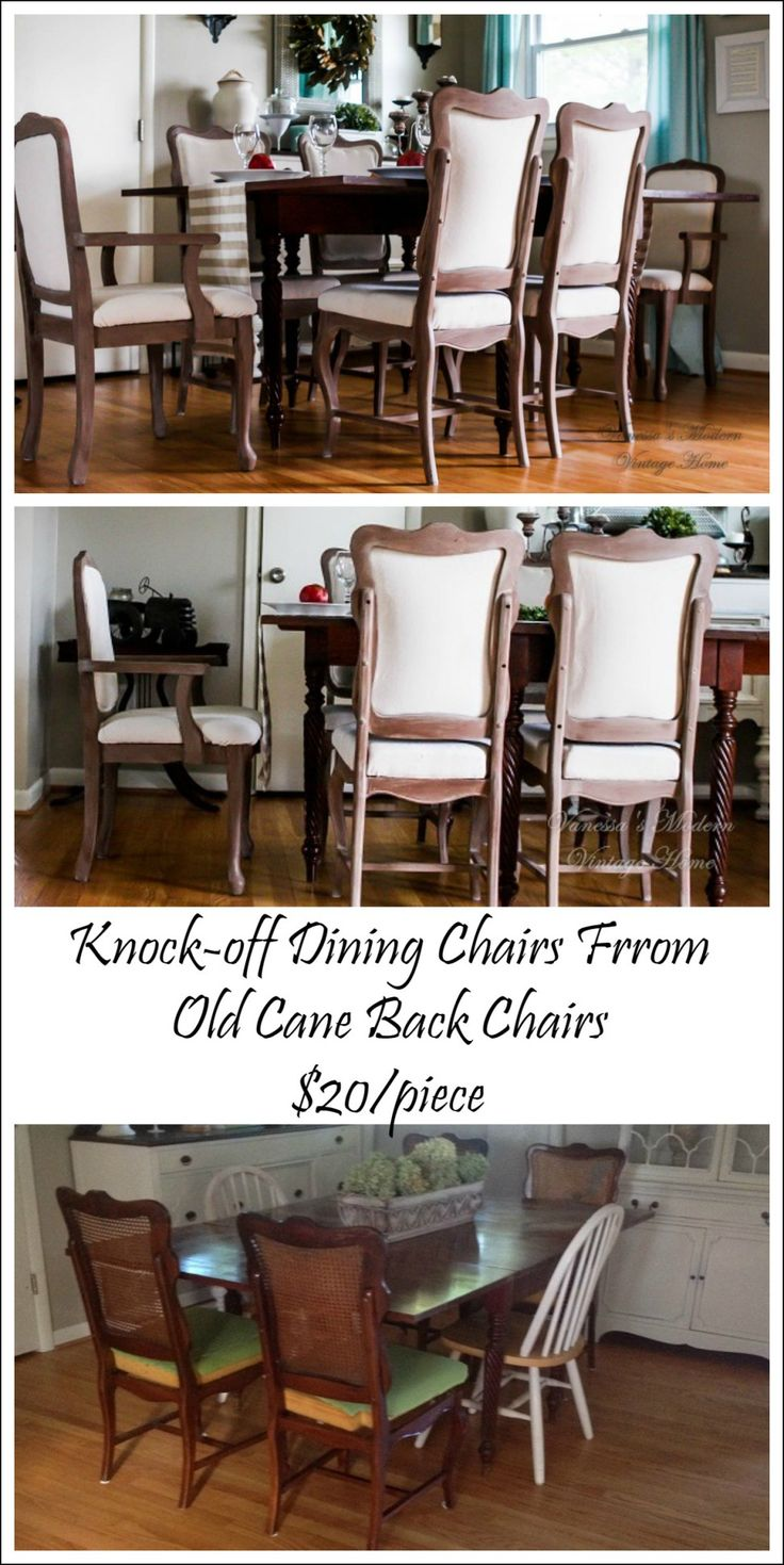 I've seen these old chairs at yard sales! I'll have to keep this is mind! No Sew! I can do that!