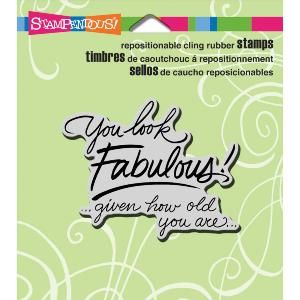 """Stampendous Cling Rubber Stamp 4.75""""X4.5"""" Sheet  Look Fabulous"""