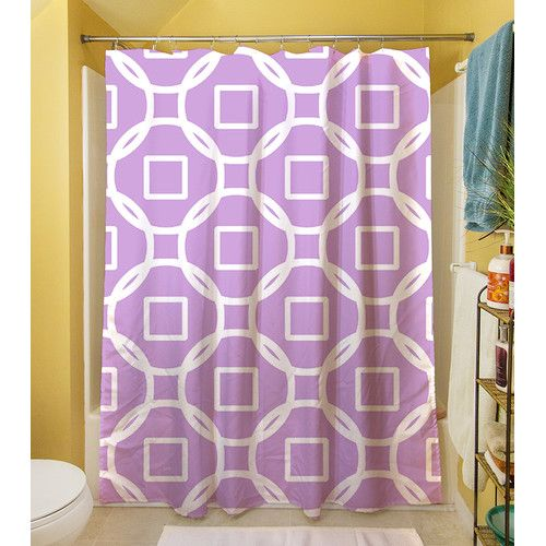 Thumbprintz Modern Geometric Lavender Shower Curtain