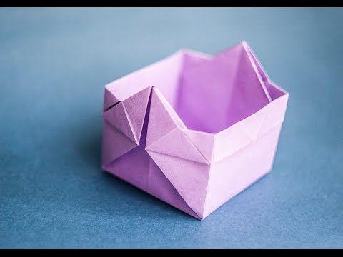 Оригами. Origami. Коробочка оригами Box origami 折り紙, 종이 접기