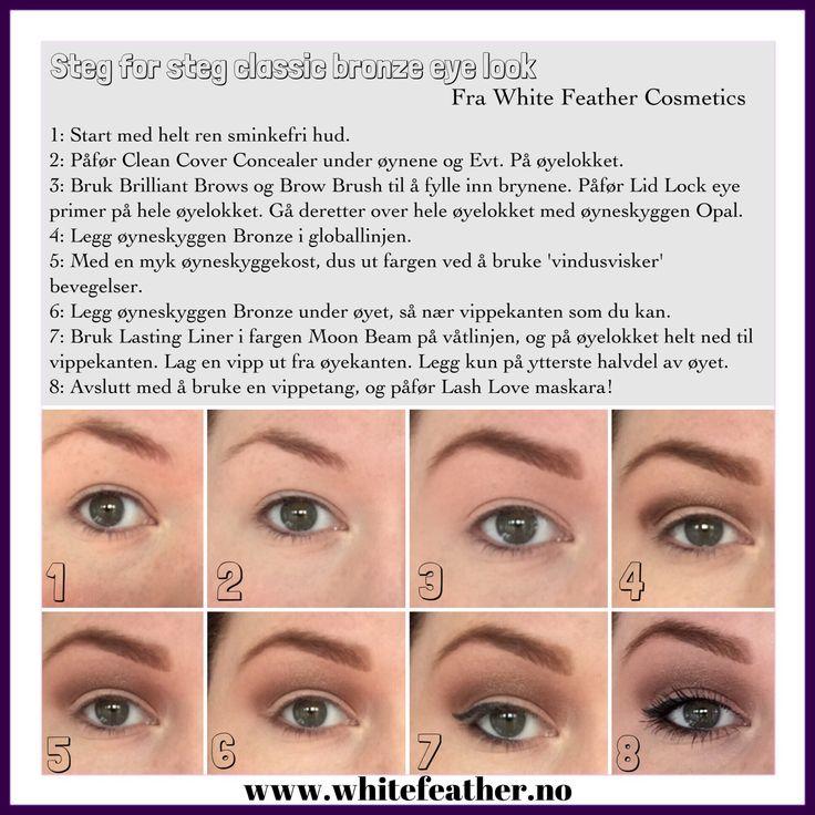 Step by step bronze eye look.
