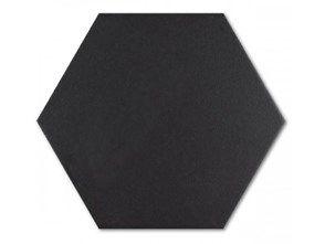 Codicer95 Black Hex 25x22 Płytka Gresowa Podłogowo-Ścienna CO/TH22BL