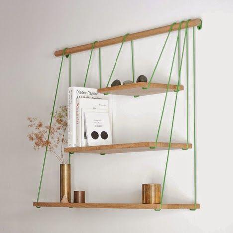 etagere murale corde. Black Bedroom Furniture Sets. Home Design Ideas
