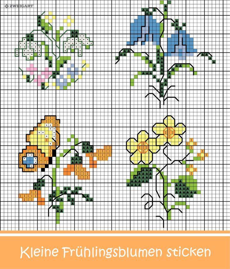 830 Kreuzstich Blumen Ideen In 2021 Kreuzstich 10