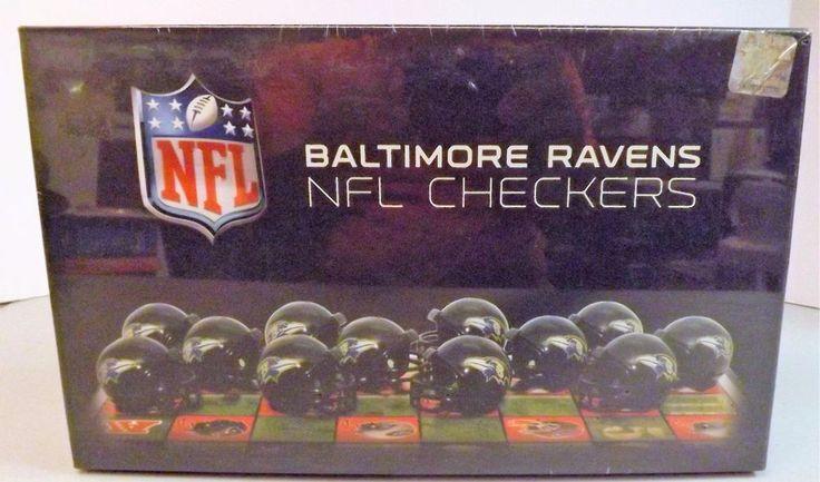 Baltimore Ravens vs. Pittsburgh Steelers Checker Set 2009 Rico Industries NIB #RicoIndustries #BaltimoreRavens