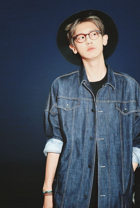 Chanyeol. I love how he makes that outfit work so perfectly