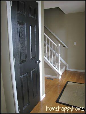 doors black interior doors painted doors black doors interior paint. Black Bedroom Furniture Sets. Home Design Ideas