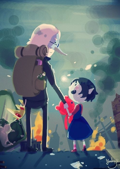 Simon & Lil Marceline!  Adventure Time