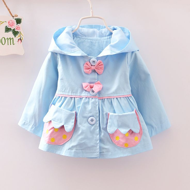 Autumn Baby Girls Clothes Solid Cotton Infants Hooded Bow Tie Jacket Coat Windbreaker girls Coats Outerwear-in Jackets & Coats from Mother & Kids on Aliexpress.com   Alibaba Group
