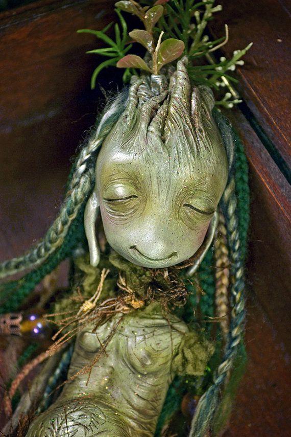 Vinpervinca Mentolaniam  art doll fantasy by SandraArteagA on Etsy, $630.00