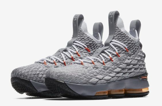 Release Date  Nike LeBron 15 GS Wolf Grey Safety Orange Releasing later on  this month 36d83854c