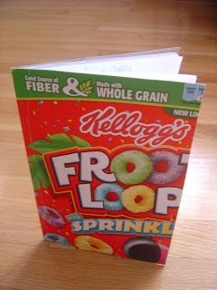 have students bring favorite cereal box - then use to cover journals