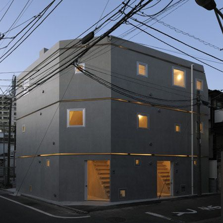 MM Apartment by Nakae Architects and Ohno Japan > looks very dark, and the stairs look very steep. No need to make buildings accessible for disabled people in Japan?