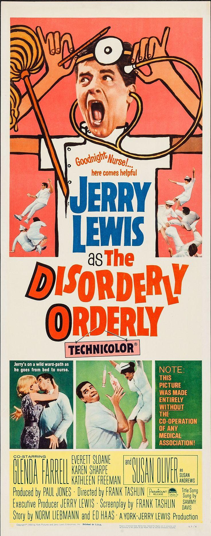 The Disorderly Orderly (1964) Stars: Jerry Lewis, Glenda Farrell, Susan Oliver, Karen Sharpe, Everett Sloane, Director: Frank Tashlin
