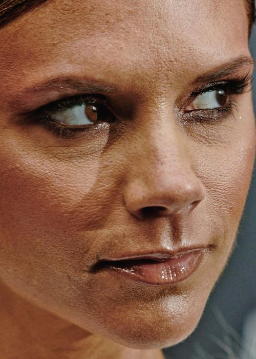 Is it horribly wrong that I take pleasure in knowing that a woman as lovely as Victoria Beckham looks like this close up??