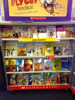 Once I set up the book fair, I snap a photo of each case with my smart phone. That way, when I suddenly see an empty space on a shelf, I can... (great idea!)