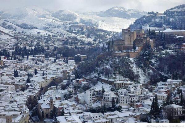 #Granada nevada y #Alhamabra #Andalucía