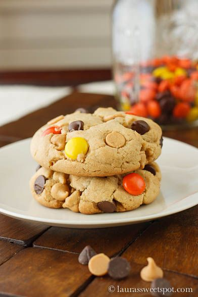 Colossal Reeses Pieces Chocolate Chip Cookies! AMAZING!