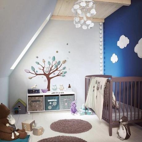 Chambre bébé garçon bleue
