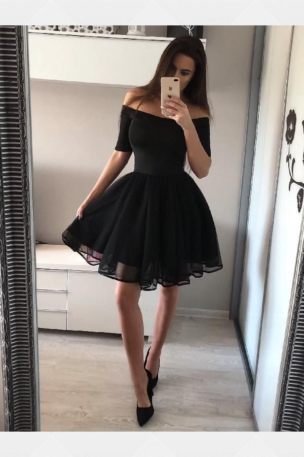 Discount Easy Homecoming Dresses A-Line, Black Homecoming Dresses Homecoming Dre…