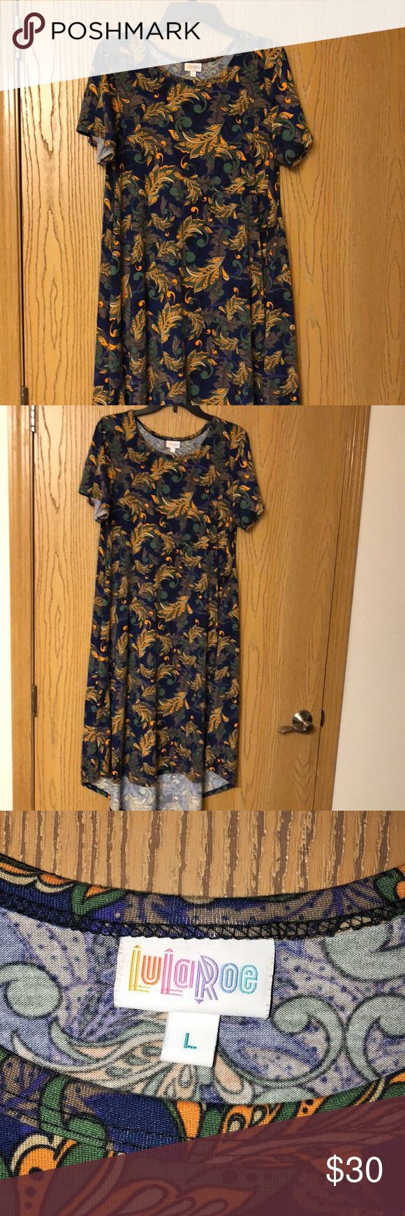 Lularoe Carly Like new condition, only worn a couple of times. The coloring in t…