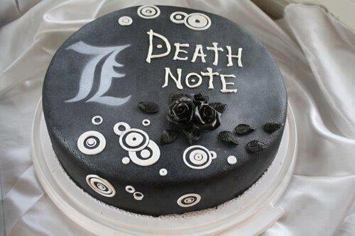 Death Note Cake                                                                                                                                                                                 Más